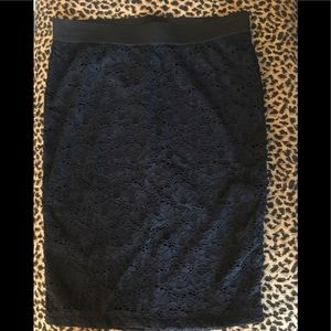 Candie's Black Lace Midi Skirt